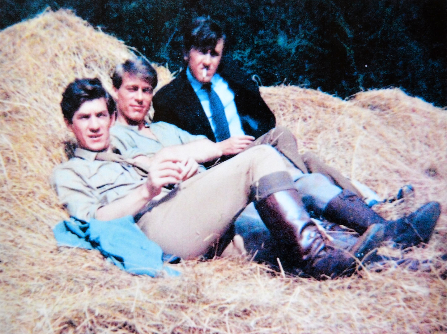 On the set of a film that was never completed, with Burr DeBenning and David Battley