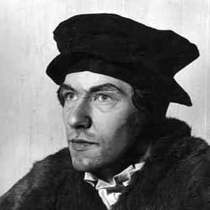 Ian McKellen as Sir Thomas More <BR><BR><em>I was too young but enjoyed trying to look like the real Sir Thomas &#151; this photo was taken in my dressing-room. </em><br /><em> </em>