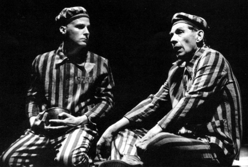 Founder members of Stonewall, Micahel Cashman and Ian McKellen, in the Adelphi performance of Bent.<br><em>Gordon Rainsford</em>
