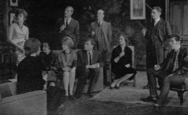 L to R: Bridget Turner, Miranda Marshall, Hazel Coppen, Derek Newark, Jennie Lynne, Peter French, Ronald Magill, Gillian Martell, Robert Gillespie, Ian McKellen.<br><br><em>Another chance for the regular company to show its versatility &#151; my own contribution was as a Teddy-Boy in tight jeans and leather jacket restoring my native Lancashire accent which Cambridge University had te
