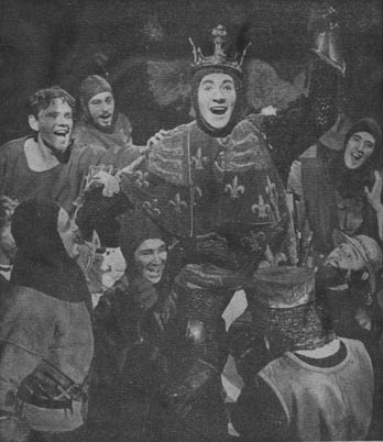 Entry into Harfleur, Ian McKellen (centre) with other members of the cast.
