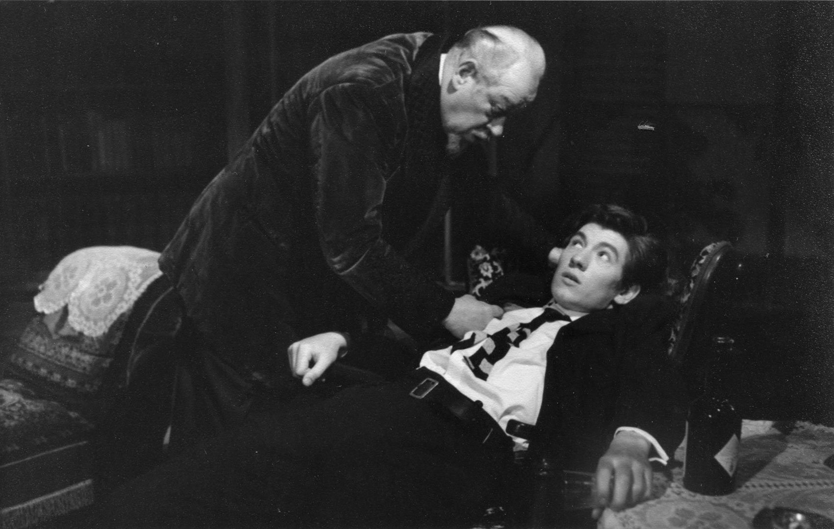 Clive Morton (James Tyrone) and Ian McKellen (Edmund Tyrone.)  <BR><BR><em>I was very excited to work with Clive,  trailing glory from films and the West End. By this