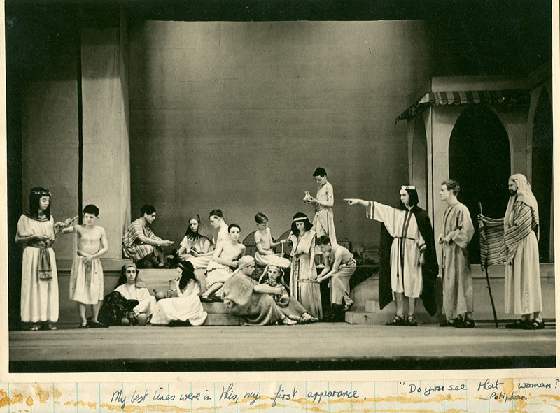 The market at Avaris: Do you see that woman? -- Potiphar (D Thomasson).  Ian McKellen far left<br><em>Percy C Rising</em>