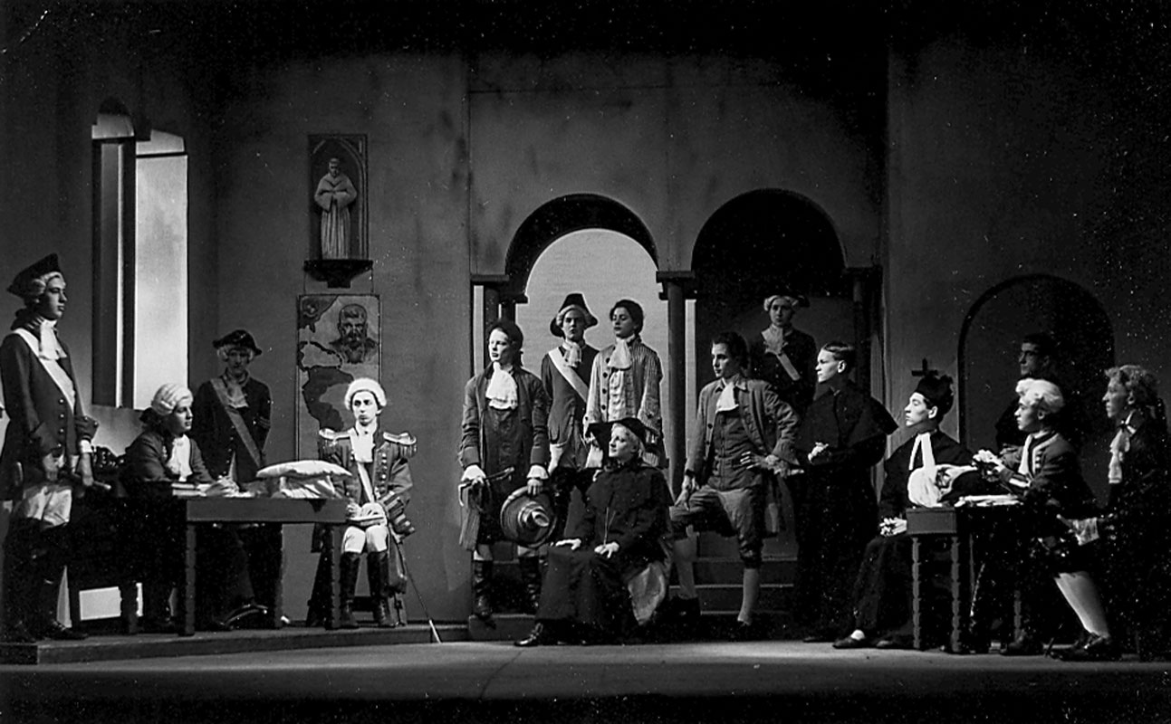Trial scene: Father.  Provincial? (Ian McKellen 4th from right)<br><em>Percy C Rising</em>