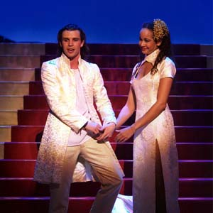 2005, ALADDIN: Aladdin (Neil McDermott) and Princess (Kate Gillespie)  - Photo by Manuel Harlan