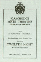 Twelfth Night Programme Cambridge