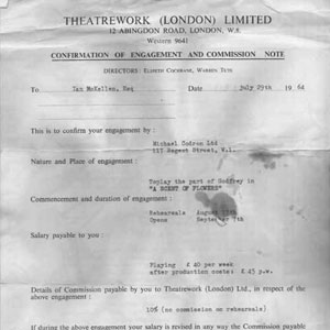 1964, A SCENT OF FLOWERS: First London Contract