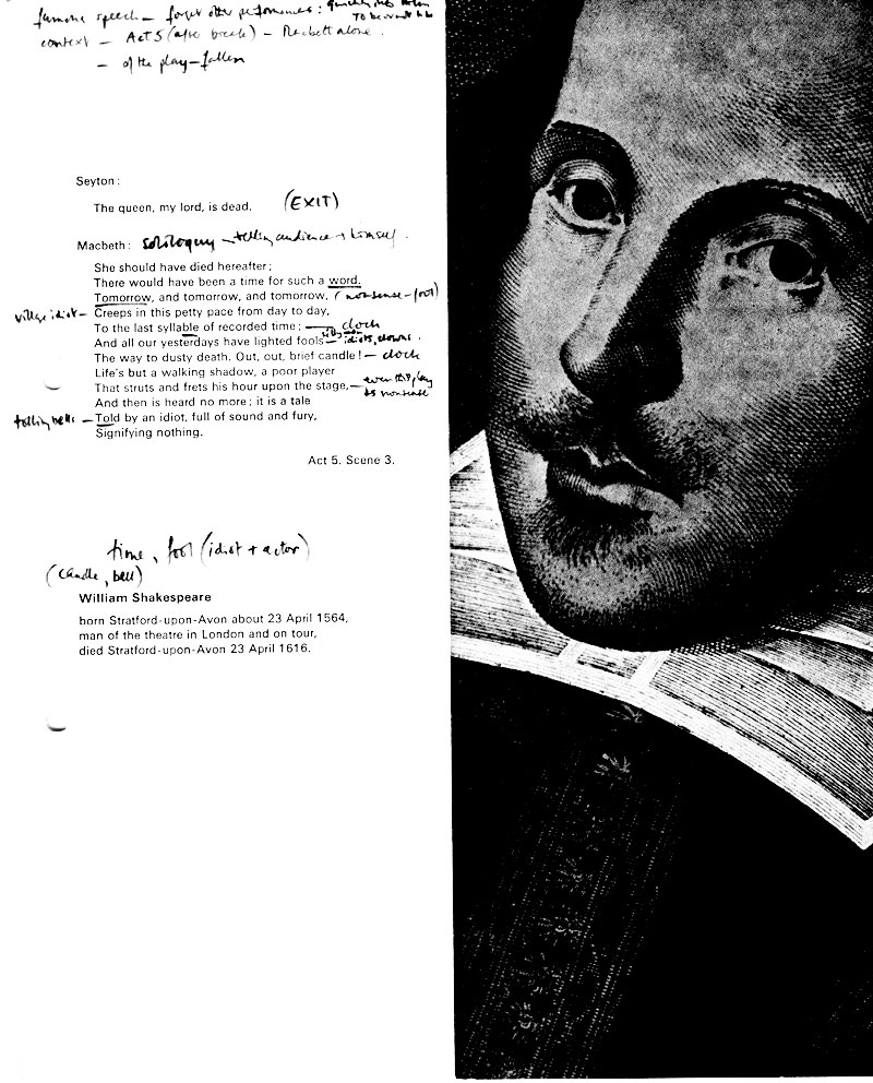 Programme  with Ian McKellens notes<br><em> </em>
