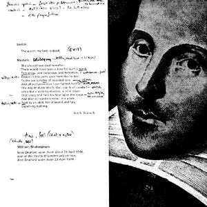 1977, ACTING SHAKESPEARE: Programme  with Ian McKellens notes