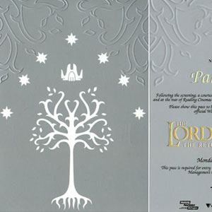 2003, THE LORD OF THE RINGS: RETURN OF THE KING: After-party invitation, Wellington premiere, 1 December 2003