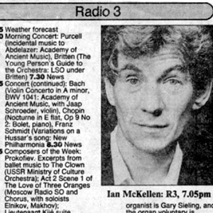 1988,   The Times radio programme listings for 27 January 1988, including my 7:05pm debate with Peregrine Worthsthorne on Section 28, when I publically came out.