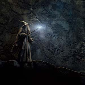 Gandalf the Grey (Ian McKellen) at Gol Dulgur in The Hobbit: The Desolation of Smaug
