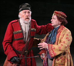 King Lear (Ian McKellen) and his Fool (Sylvester McCoy), Photo by Sara Krulwich/The New York Times