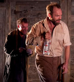 Uncle Vanya (Richard Roxburgh) and Astrov (Hugo Weaving)