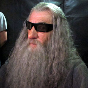 3D glasses on the set of THE HOBBIT