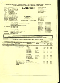 Sample Call Sheet