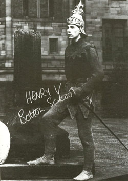 Ian McKellen as Henry V at Bolton School