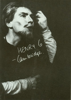 Ian McKellen as Henry VI in Cambridge
