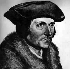 A portrait of Sir Thomas More by Hans Holbein<br><em> </em>