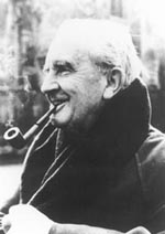 J. R. R. Tolkien, Photograph by John Wyatt, (Courtesy HarperCollins Publishers)