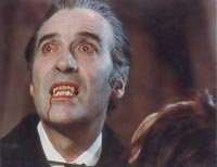 Christopher Lee as the Vampire