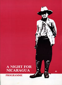 1985, A Night for Nicaragua: Programme