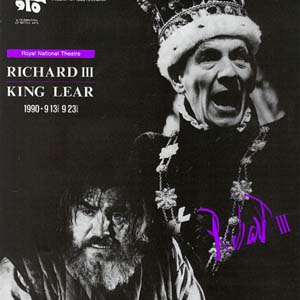 1990, RICHARD III: Tokyo Globe: King Lear (Brian Cox) and King Richard (Ian McKellen)