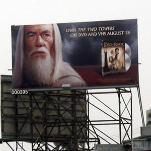 Gandalf Billboard, Los Angeles, 2003
