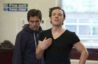 Michael Stevenson and Michael Thomson in The Syndicate (Rehearsal)