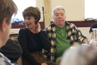 Janet Spencer-Turner and David Foxxe in The Syndicate (Rehearsal)