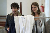 Gavin Fowler and Annie Hemingway in The Syndicate (Rehearsal)
