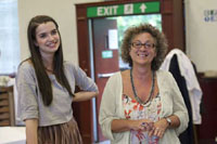 Margaret Clunie and Jane Bertish in The Syndicate (Rehearsal)
