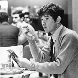 George (Ian McKellen) lunching in the BBC canteen where he first meets Rosamund