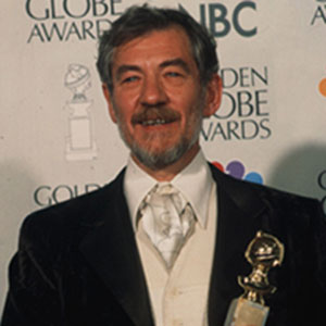 At the 54th Golden Globe Awards, where Sir Ian was presented with the award for Best Supporting Actor of 1996.