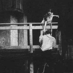 <em>At the end of the Balcony scene I clambered up the scaffolding to reach Juliet (Francesca Annis).</em>