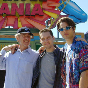 Ian McKellen (Magneto), Bryan Singer (Director), and James Marsden (Cyclops), at Universal Studios Los Angeles