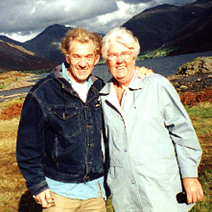 With sister Jean in Wastwater, Lake District, England