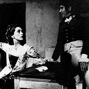 Sian Phillips as the Strange Lady and Ian McKellen as General Bonaparte in The Man of Destiny