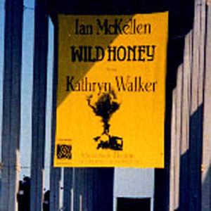 Banner for Ahmanson Theatre, Los Angeles pre-Broadway run