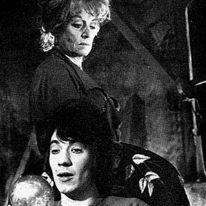 1968, THE WHITE LIARS / BLACK COMEDY: Dorothy Reynolds as Sophie and Ian McKellen as Tom in The White Liars