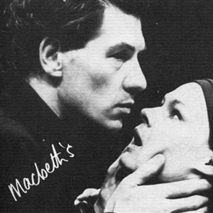 1976, MACBETH: Ian McKellen (Macbeth) and Judi Dench (Lady Macbeth)