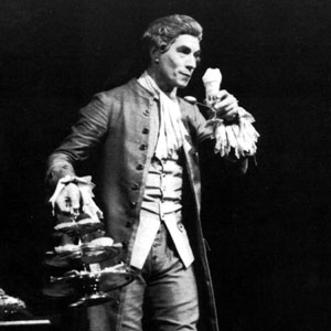 Ian McKellen juggling the cakes and desserts which Salieri relishes