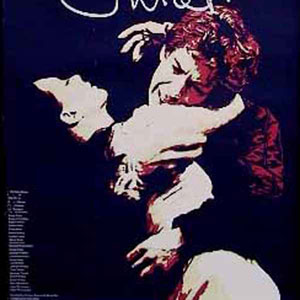 1976, ROMEO AND JULIET (1976): The theatre poster - Francesca Annis and Ian McKellen signed for Juliet and Romeo in their own hand-writing to create the logo.