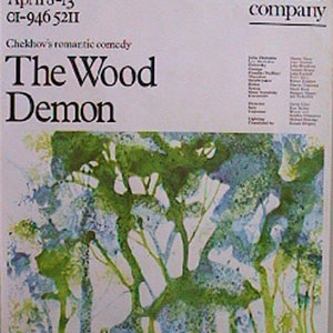 1974, THE WOOD DEMON: Wimbledon Theatre Poster
