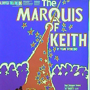 1974, THE MARQUIS OF KEITH: Theatre Poster