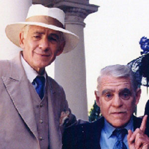 1997, GODS AND MONSTERS: With Boris Karloff and Elsa Lanchester on the set.