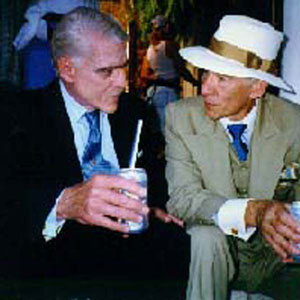 1997, GODS AND MONSTERS: Boris Karloff and James Whale enjoy refreshements on the set.