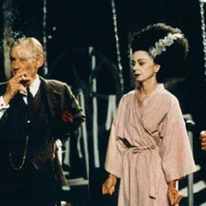 1997, GODS AND MONSTERS: James Whale (Ian McKellen), Elsa Lanchester (Rosalind Ayres), and Ernest Thesinger (Arthur Dignam) recreate The Bride of Frankenstein.