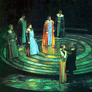 1969, EDWARD II: King Edward, Queen Isabella, and the mutinous Barons  - Photo by John Gilbert