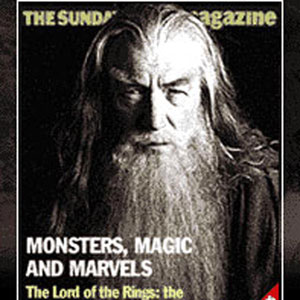 Cover of Sunday Times Magazine, 25 November 2001